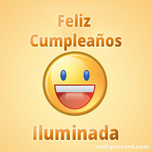 happy birthday Iluminada smile card