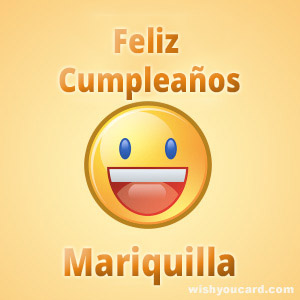 happy birthday Mariquilla smile card