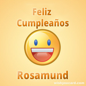 happy birthday Rosamund smile card