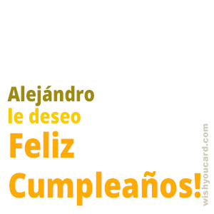 happy birthday Alejándro simple card