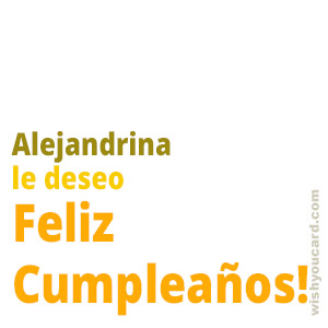 happy birthday Alejandrina simple card