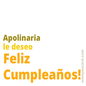 happy birthday Apolinaria simple card
