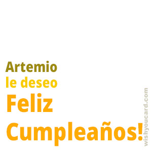 happy birthday Artemio simple card