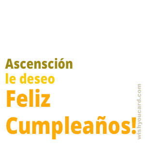 happy birthday Ascensción simple card