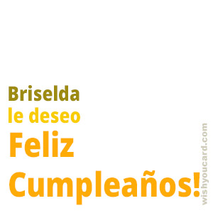happy birthday Briselda simple card