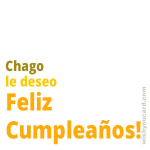 happy birthday Chago simple card
