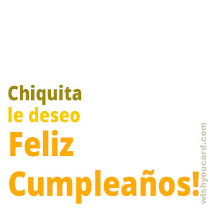happy birthday Chiquita simple card