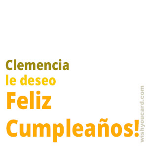 happy birthday Clemencia simple card