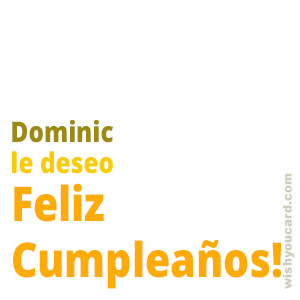 happy birthday Dominic simple card