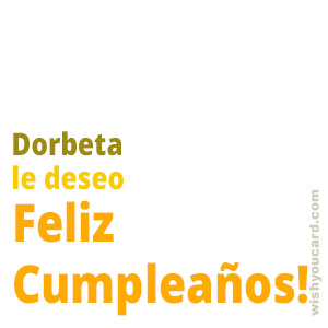happy birthday Dorbeta simple card