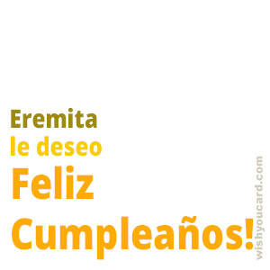 happy birthday Eremita simple card
