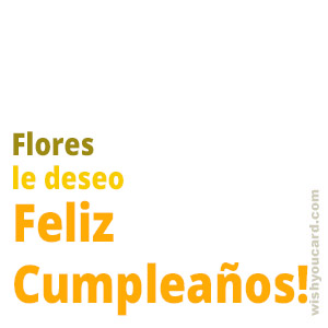 happy birthday Flores simple card