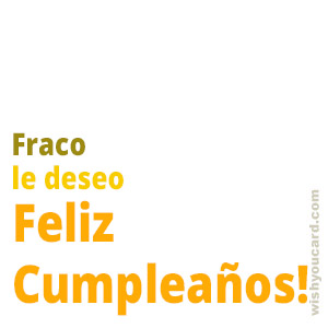 happy birthday Fraco simple card