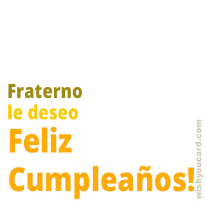 happy birthday Fraterno simple card