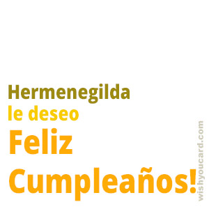 happy birthday Hermenegilda simple card