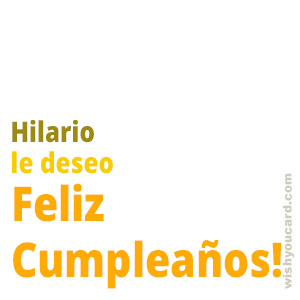 happy birthday Hilario simple card