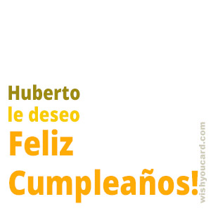 happy birthday Huberto simple card