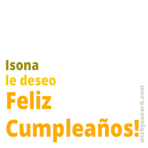 happy birthday Isona simple card