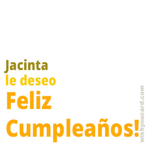 happy birthday Jacinta simple card