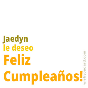happy birthday Jaedyn simple card