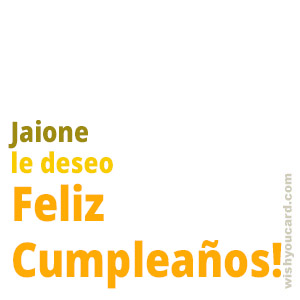 happy birthday Jaione simple card