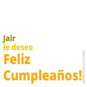 happy birthday Jair simple card