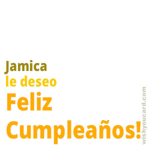 happy birthday Jamica simple card