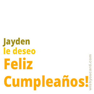 happy birthday Jayden simple card