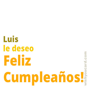 happy birthday Luis simple card