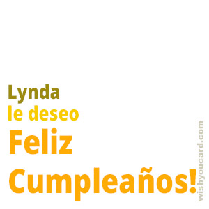 happy birthday Lynda simple card