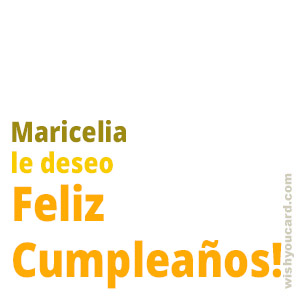 happy birthday Maricelia simple card