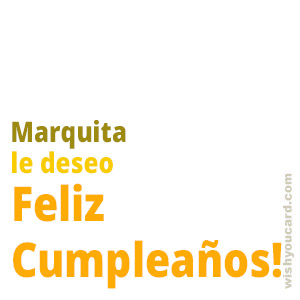 happy birthday Marquita simple card