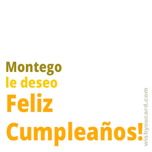 happy birthday Montego simple card