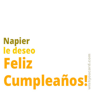 happy birthday Napier simple card