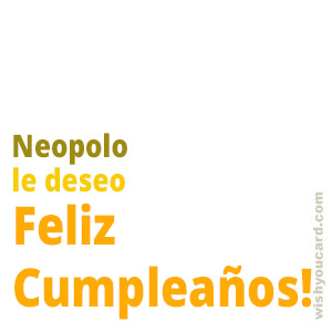 happy birthday Neopolo simple card