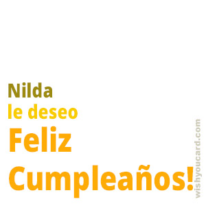 happy birthday Nilda simple card