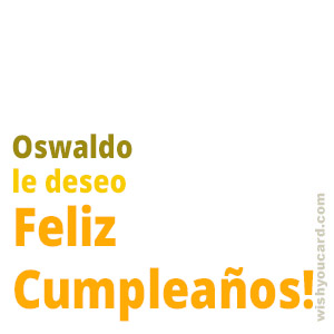 happy birthday Oswaldo simple card