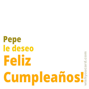 happy birthday Pepe simple card