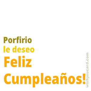 happy birthday Porfirio simple card