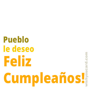 happy birthday Pueblo simple card