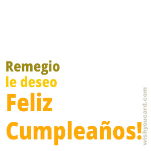 happy birthday Remegio simple card