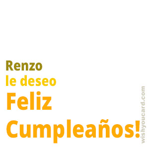 happy birthday Renzo simple card