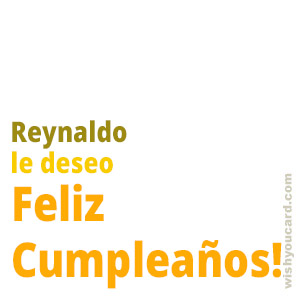 happy birthday Reynaldo simple card