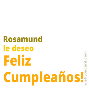happy birthday Rosamund simple card
