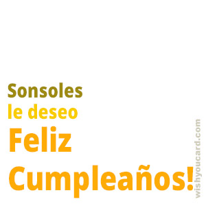 happy birthday Sonsoles simple card
