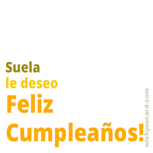 happy birthday Suela simple card