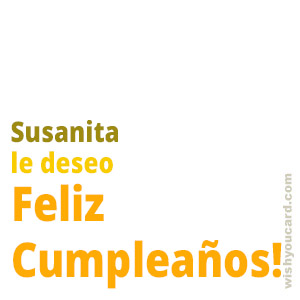 happy birthday Susanita simple card