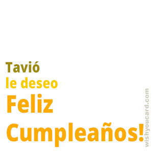 happy birthday Tavió simple card