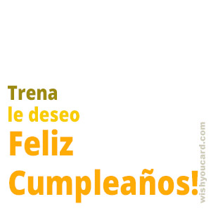 happy birthday Trena simple card