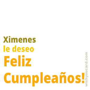 happy birthday Ximenes simple card